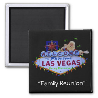 Family Reunion In Fabulous Las Vegas Magnet