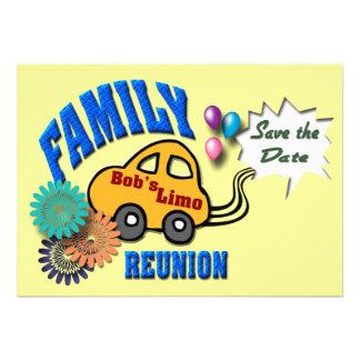 Family Reunion Personalized Announcements
