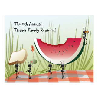 Family Reunion Invitation Postcard