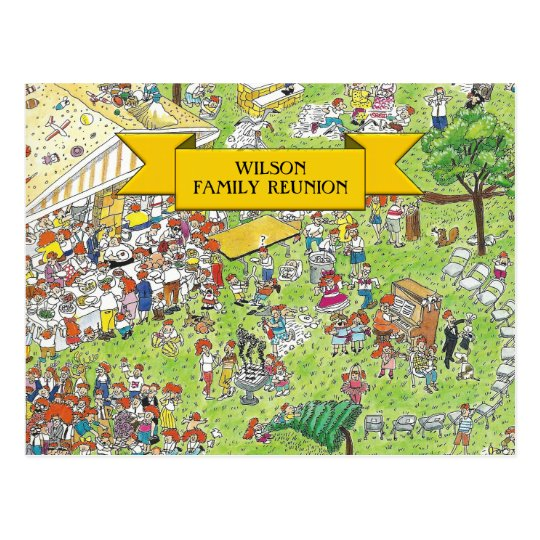 family reunion invites postcard