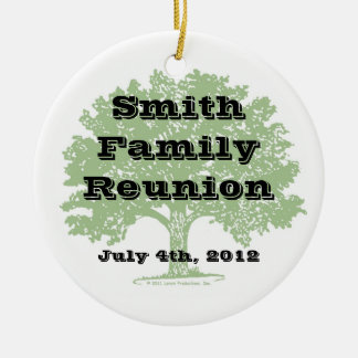 Family Reunion Keepsake Ceramic Ornament