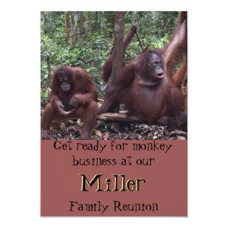 "Family Reunion Monkey Business 5"" X 7"" Invitation Card"