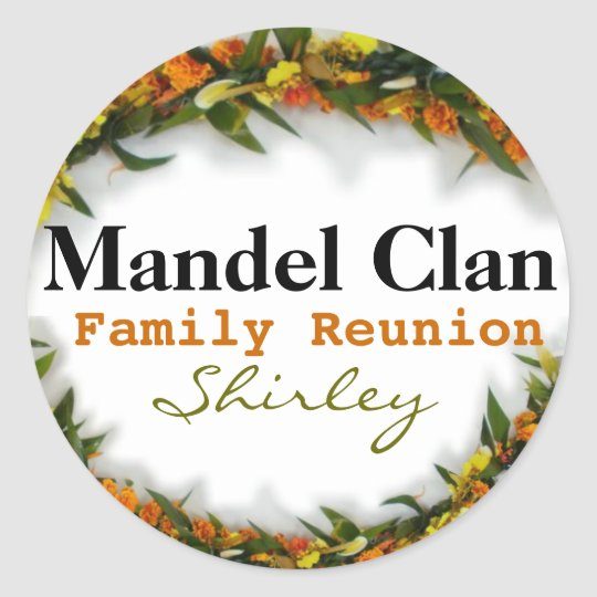 Family Reunion  Name tag sticker template