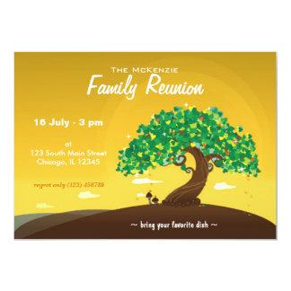 "Family Reunion (Orange) 5"" X 7"" Invitation Card"