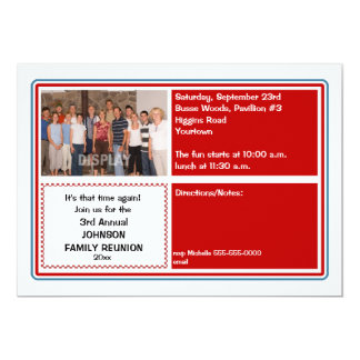 Family Reunion Photo Invitation