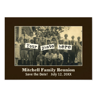 Family Reunion Photo Template Announcement