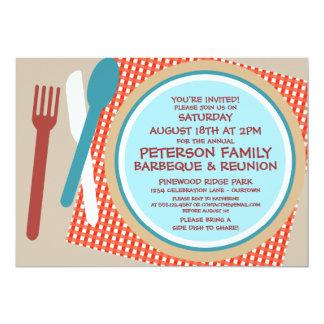 """Family Reunion Picnic Barbeque Invitation 5"""" X 7"""" Invitation Card"""