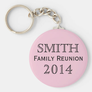 Family Reunion Pink Background Keychain