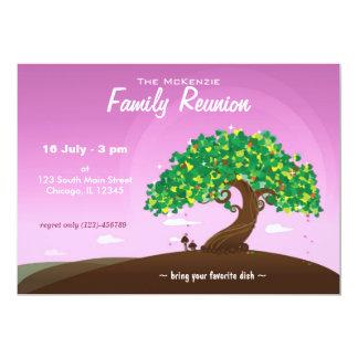 "Family Reunion (Purple) 5"" X 7"" Invitation Card"
