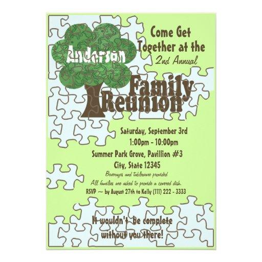 Family Reunion Puzzle Custom Invite