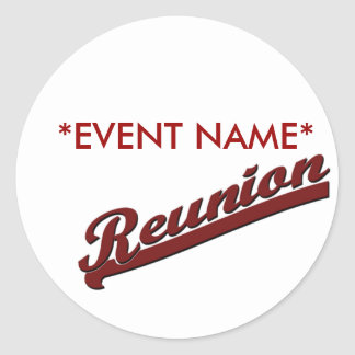 FAMILY REUNION  REUNION BANNER TEXT CLASSIC ROUND STICKER