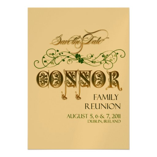 Family Reunion Save the Date Custom Invite