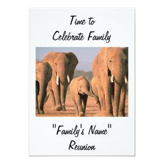 "FAMILY REUNION-TIME TO CELEBRATE 5"" X 7"" INVITATION CARD"