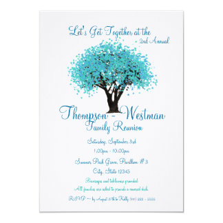 Family Reunion Tree Card