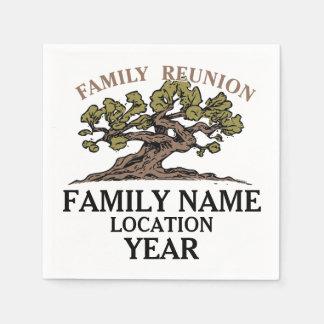 Family Reunion Tree Paper Napkins