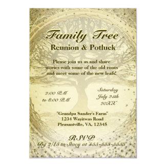 "Family Reunion - Vintage Family Tree 5"" X 7"" Invitation Card"