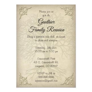 Family Reunion Vintage Tree Invitation