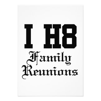 family reunions personalized announcements