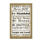 Family Rules God Canvas Print