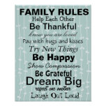 FAMILY RULES, Inspiration for a happy family! Print