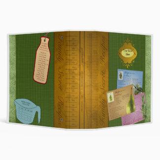 Family Secret Recipes Vinyl Binder