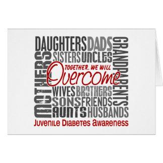 Family Square Juvenile Diabetes Greeting Card
