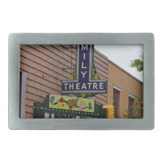 Family Theatre Rectangular Belt Buckles