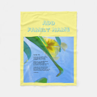 Family Ties - add your name - Fleece Blanket