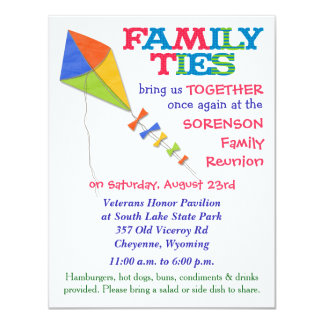 Family Ties Kite Family Reunion Invitation