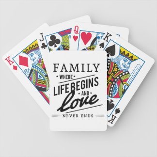 Family time bicycle playing cards