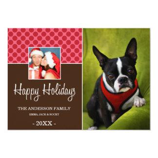 "FAMILY TIME | HOLIDAY PHOTO CARD 5"" X 7"" INVITATION CARD"