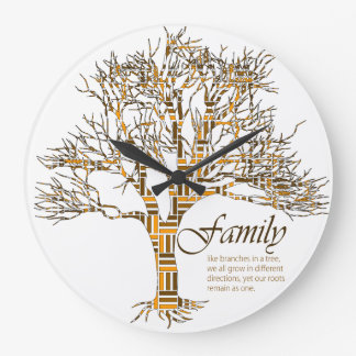 Family Time Large Clock