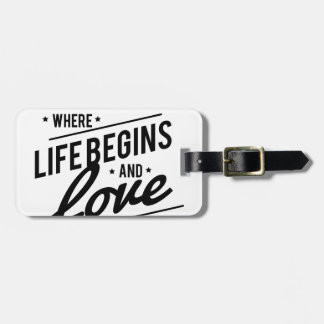 Family time luggage tag