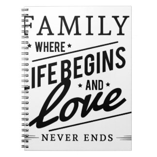 Family time notebooks