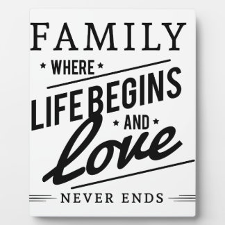 Family time plaque