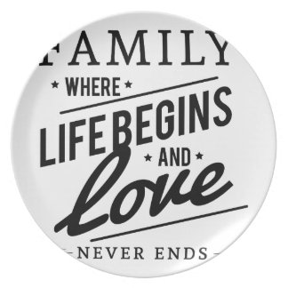 Family time plate
