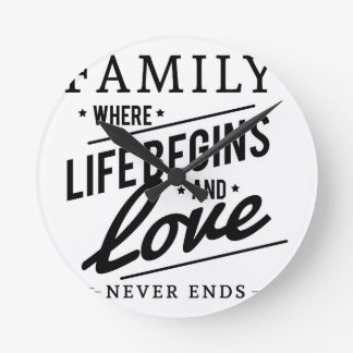 Family time round clock