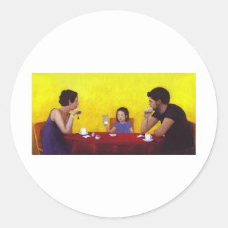 Family Time Round Sticker