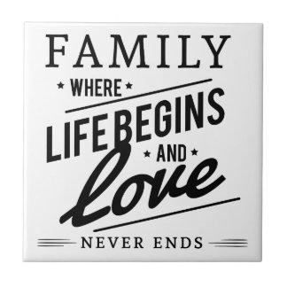 Family time tile