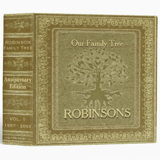 Family Tree | Antique Gold Look Book Binder