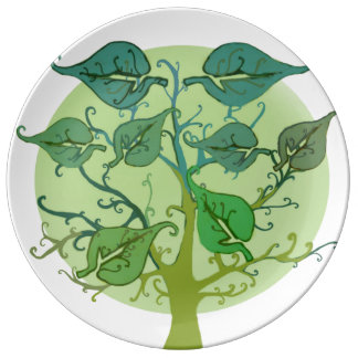 Family Tree Custom Decorative Porcelain Plate