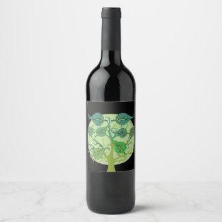 Family Tree Custom Personalised Wine Bottle Label