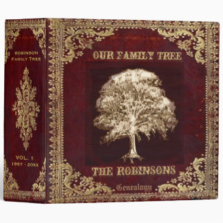 Family Tree Genealogy Album 3 Ring Binders
