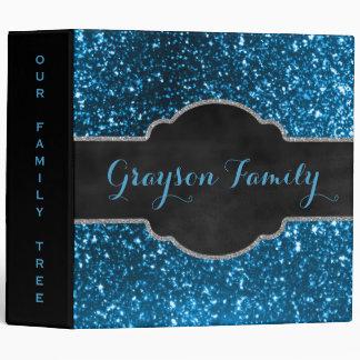 Family Tree Genealogy | Blue Black Chalkboard Binder