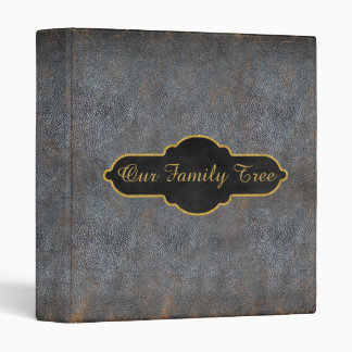 Family Tree Genealogy Rustic Antique Book Leather Binder
