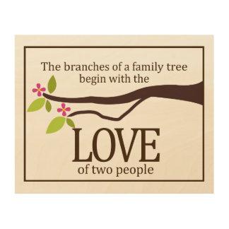 Family Tree Love Custom Wood Wall Art Wood Canvas