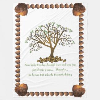 Family Tree Nuts Fleece Blanket