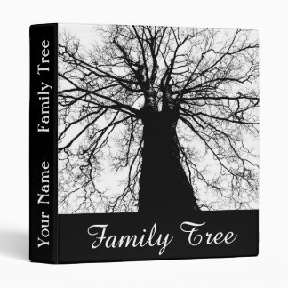 Family Tree Personalized Name 3 Ring Binders