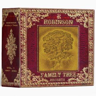 Family Tree Photo and Scrapbook with Monogram Binders