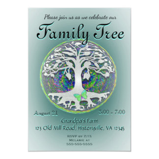"""Family Tree Reunion 5"""" X 7"""" Invitation Card"""